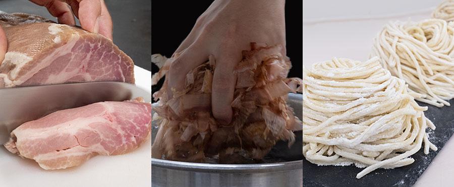 こだわりの麺・出汁・チャーシュー